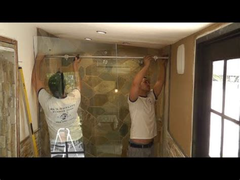 how to install a sliding shower door how to install a sliding glass shower doors tutorial