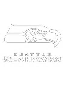 seattle seahawks logo coloring page free printable