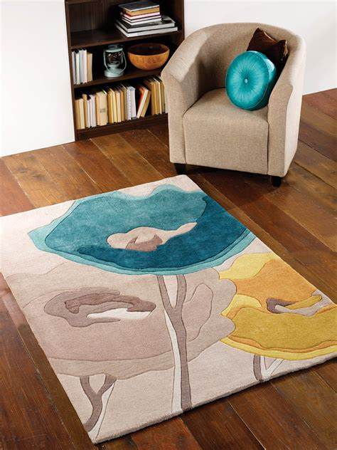 Teal And Yellow Area Rug Infinite Mod Poppy Flowers Teal Yellow Floral Rug Buy Rugs In The Uk