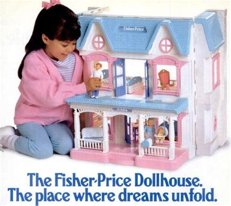 fisherprice doll house fisher price dollhouse 1990 s pinterest