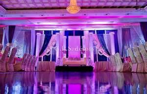 royal blue and pink wedding ideas pink royal blue setup pillars led trees mirror