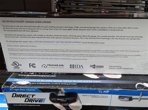 Costco Garage Door Opener by Sommer Direct Drive Garage Door Opener