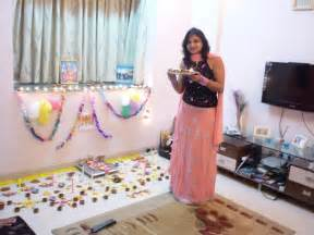 reacha blogging diwali in hyderabad new home