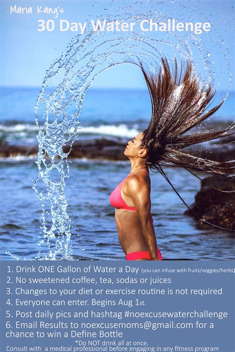 30 day water challenge results she drank one gallon of water a day and look what happened