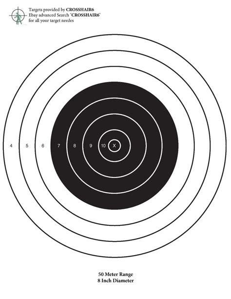 22 Long Rifle Printable Targets | box of 20 50 meter bull eye targets ar 15 22 long rifle