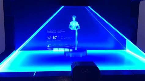 cortana do you own a thong fan creates real life cortana hologram from halo video