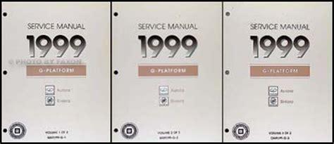 1999 olds aurora buick riviera repair shop manual original 3 volume set