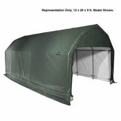 canopy garage shelterlogic 12 x 24 x 11 barn style portable garage