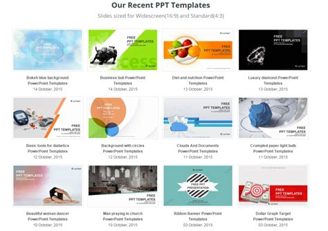 Great Presentation Templates 10 great resources to find great powerpoint templates for free