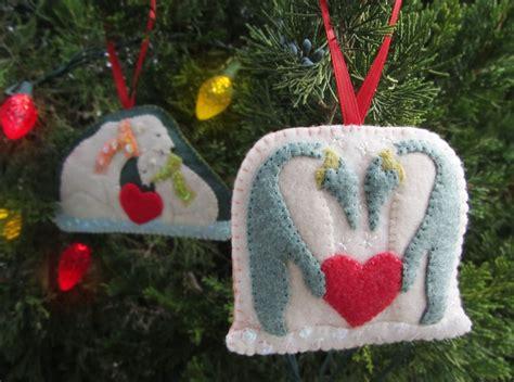 polar family felt ornament patterns penguins polar