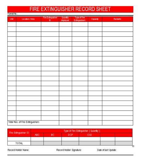 20 fire alarm test record template free fire safety