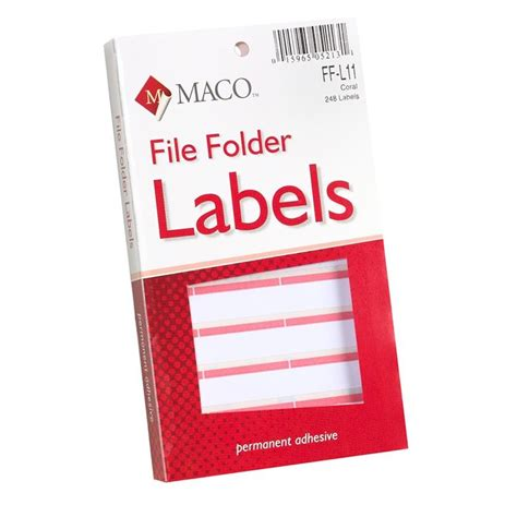 file folder labels template maco color coded file folder labels webofficemart