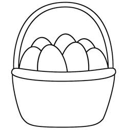 coloring pages for easter basket easter basket coloring page easter