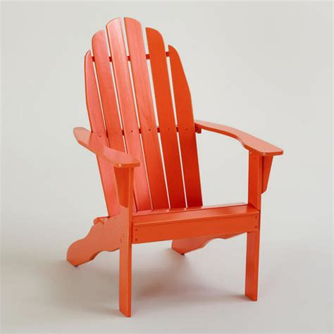 Orange Patio Chairs Spicy Orange Classic Adirondack Chair Traditional Adirondack Chairs By Cost Plus World Market