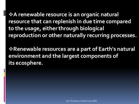 Explain The Different Sources Of Mba by Renewable And Non Renewable Sources Of Energy Niju Thandapra