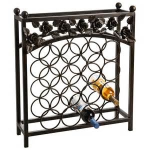 napa home garden wrought iron wine rack 16 bottle