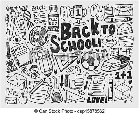 how to doodle in school draw doodle school element clip vector search