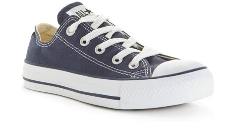 Jaket Convers Line converse s chuck all ox sneakers from finish line in blue lyst