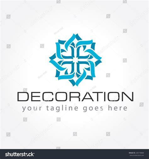 Logo Decoration Design by Decoration Logo Interior Decoration Logo Stock Vector