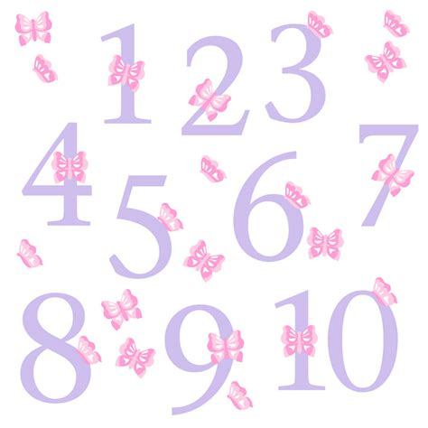 wall stickers numbers childrens butterfly number wall stickers by kidscapes notonthehighstreet