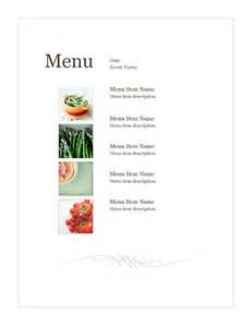 simple menu templates food and nutrition office