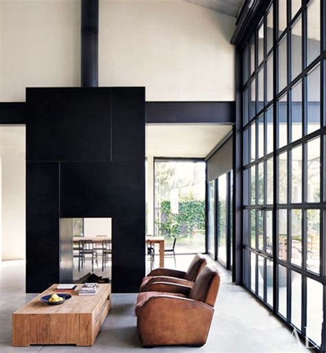 Modern Black Fireplace by Inspiration Chic Fireplaces 1 The Bohmerian
