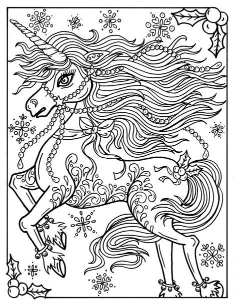 christmas unicorn coloring page christmas unicorn adult coloring page coloring book holidays
