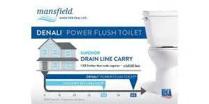 Mansfield Plumbing Products Perrysville Ohio by Single Flush Confidence From Powerful Denalitm Toilet Equals Fewer Flushes Clogs Hvac P