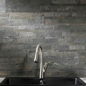 Kitchen Backsplash Stone Tiles aspect backsplash stone tile in iron slate