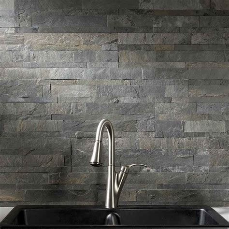 slate backsplash tiles for kitchen aspect backsplash tile in iron slate