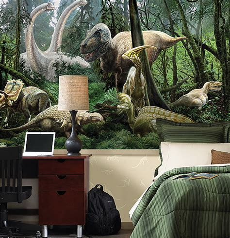 dinosaur bedroom ideas kids bedrooms with dinosaur themed wall art and murals