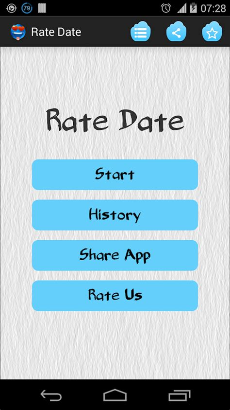 Rate your date app