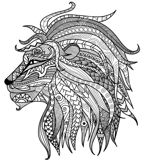 lion pattern tumblr get this lion coloring pages for adults printable 31622