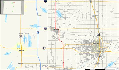 colorado county map with highways colorado state highway 257 wikidata