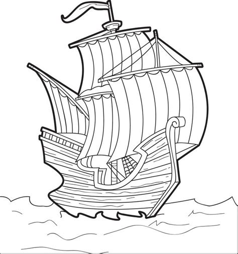 the mayflower free printable thanksgiving coloring page