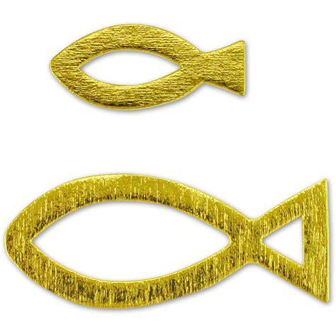 Deko Gold Silber by Deko Christenfische Fische 24 Holz Streuteile Silber Gold