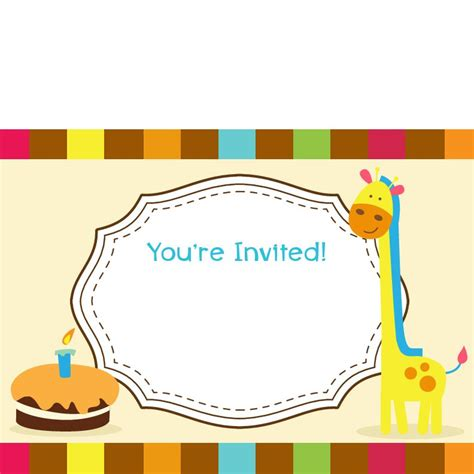 children s day card template printable birthday invitations birthday invitations