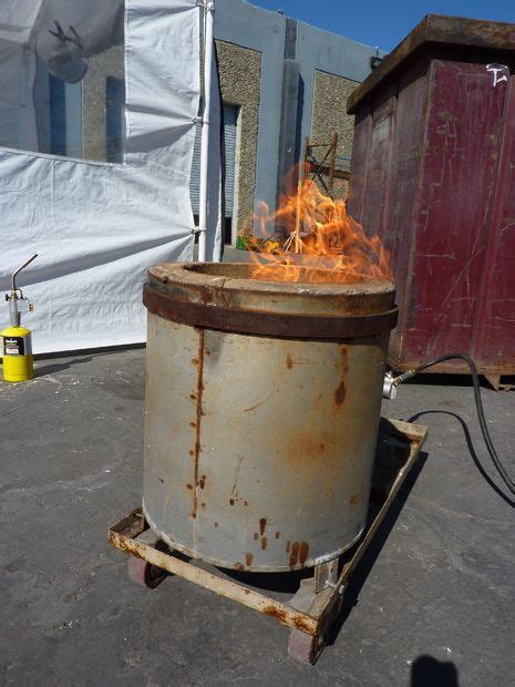 backyard metal casting furnace backyard metal casting and homemade forges