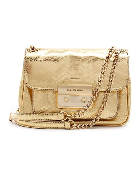Bag Free Pouch Handbag lyst michael kors small sloan python embossed shoulder