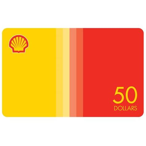 Gift Card Shell - shell gift card 50 details
