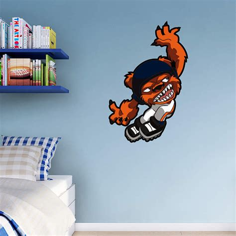 chicago bears wall stickers chicago bears rusher wall decal shop fathead 174 for