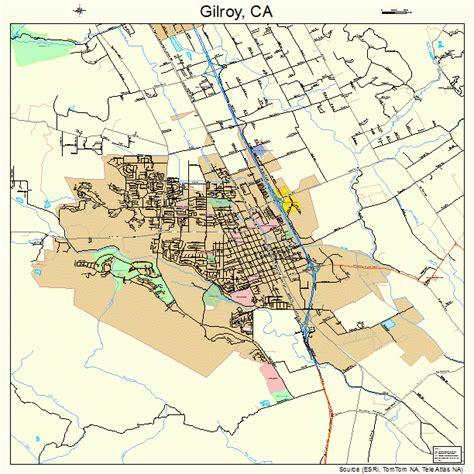 california map gilroy landsat
