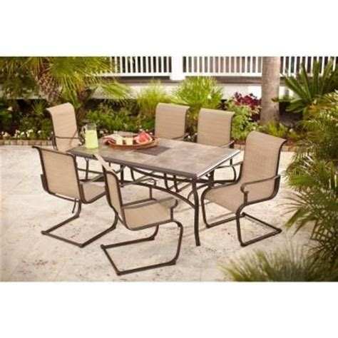 hton bay belleville 7 patio dining set outdoor