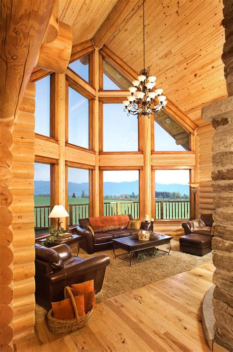 Home Interior by Log Home Interiors Yellowstone Log Homes