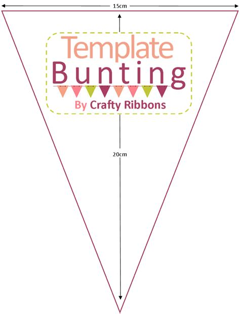 mini bunting template cake ideas and designs