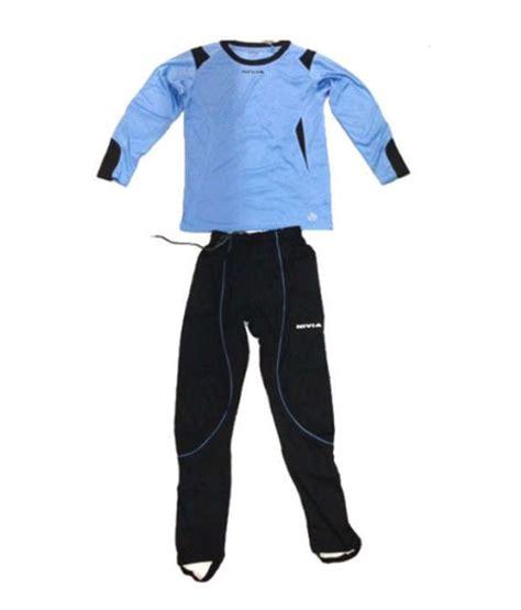 Set Spider Blue nivia spider blue and black football goalkeeper jersey set buy nivia spider blue and black