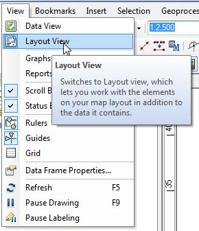 arcmap layout view page size arcgis desktop printing at defined scale and paper size