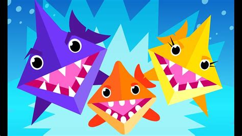 baby shark origami origami baby shark kids songs by little angel youtube