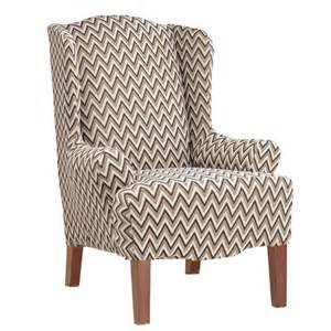 Wing Back Chair Covers by Sure Fit Stretch Chevron Wing Chair Slipcover Reviews