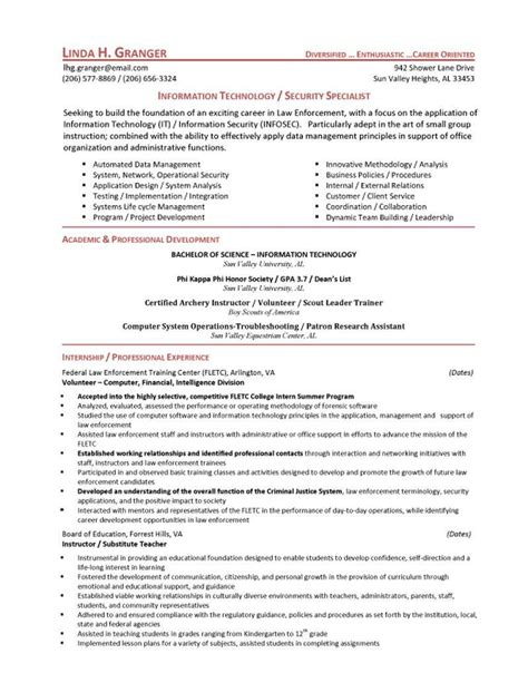 IT Security Specialist Resume